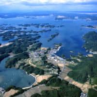 上空から見た宮戸島・里浜地区